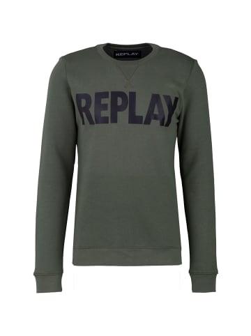 Replay Sweatshirt Cotton Fleece in grün