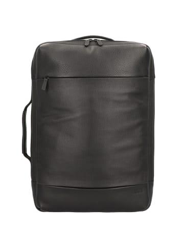 Jost Stockholm Rucksack Leder 46 cm Laptopfach in schwarz