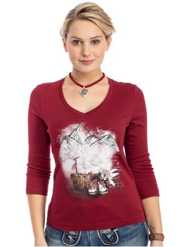 Trachten Stoiber Shirt 321124 bordeaux
