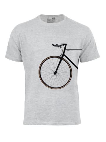 Cotton Prime® T-Shirt Bike Lover - Vorderrad in Grau