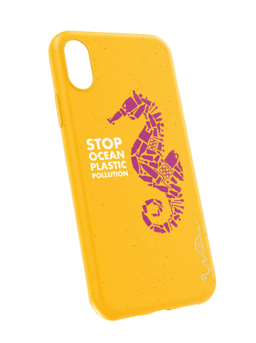 Eco Fashion by Wilma Handyhülle Matte Seahorse Eco-case for iPhone XR in yellow