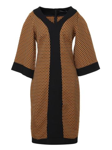 MaDam-T Kleid Kleid Reina in schwarz/ senf