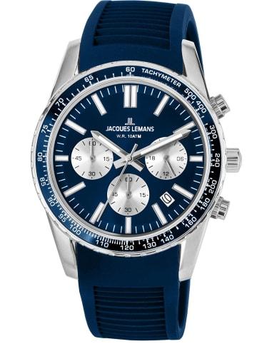 Jacques Lemans Armbanduhr Chronograph Liverpool Blau Ø 39 mm
