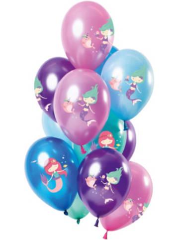 FOLAT Luftballons Sweet Mermaid 30 cm, 12 Stück