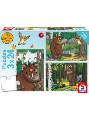 Schmidt Spiele Kinderpuzzleset 3 x 24Teile Mein Freund der Grüffelo
