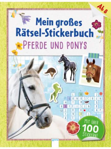 Arena Verlag Mein großes Rätsel-Stickerbuch. Pferde und Ponys