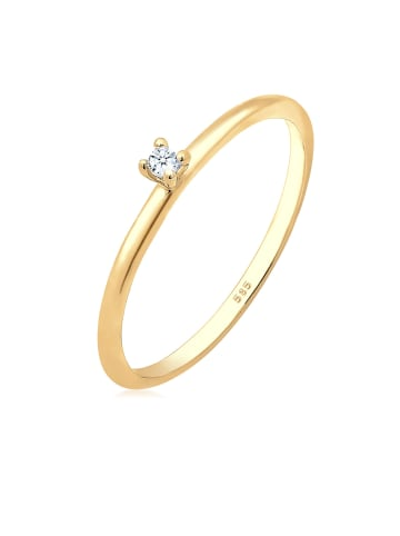 DIAMORE Ring 585 Gelbgold Solitär-Ring, Verlobungsring in Gold