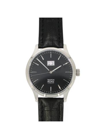 """WatchPeople Herrenuhr """"Argos"""" in schwarz und silber"""