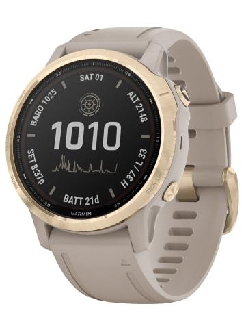 Garmin Fenix 6S Pro Solar Smartwatch Beige / Weißgold