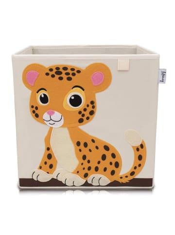Lifeney Aufbewahrungsbox Tiger hell, 33 x 33 x 33 cm