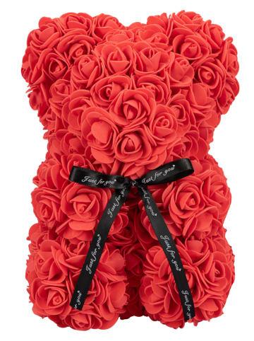 Mia Milano Rosengeschenkbox Teddybär aus Rosen in rot