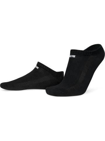 Circle Five 6 Paar Sneaker-Socken mit Silikongrip in Schwarz