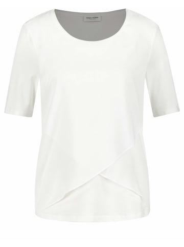 WEBER SCHUH Oversized Rundkragen Shirt in offwhite