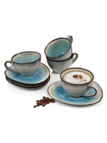 Sänger 8-tlg. Kaffeetassen Set Capri in Blau