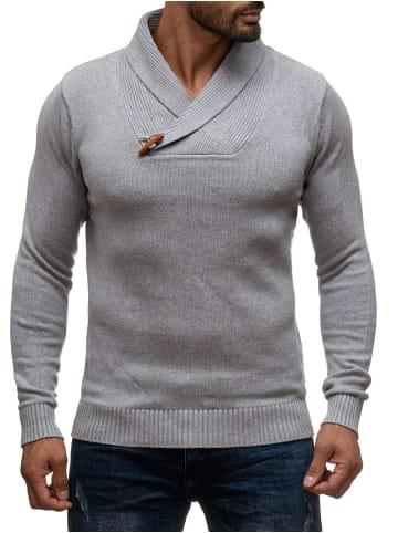Sky Rebel Strickpullover Longsleeve Shirt H1382 in Grau