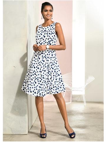 Alba Moda Kleid in Weiß,Marineblau