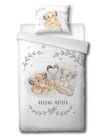 """Disney Baby Baby Bettwäsche-Set Flanell """"Disney's König der Löwen"""" in Weiß"""