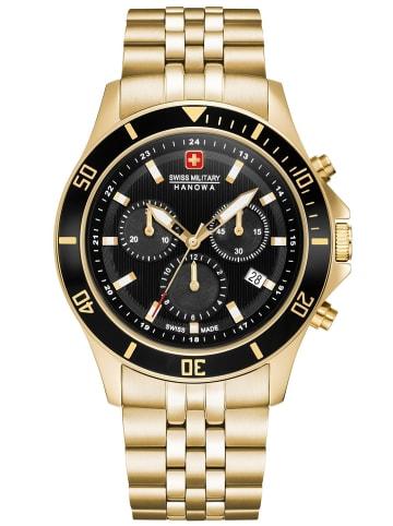 Swiss Military Hanowa Herren-Chronograph Flagship Chrono II Schwarz / Gold