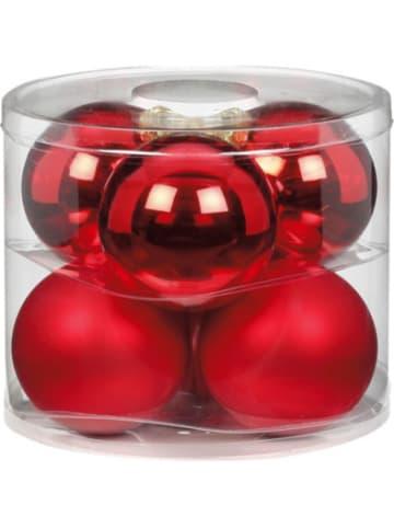 Magic 6er-Set Glas-Weihnachtskugeln, Ø10cm