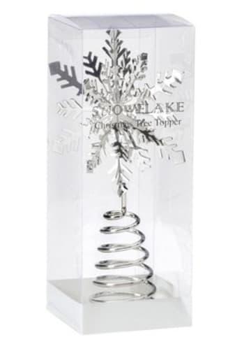 """Christmas Goods by Inge Weihnachtsbaumspitze """"Schneeflocke"""" H19 cm"""