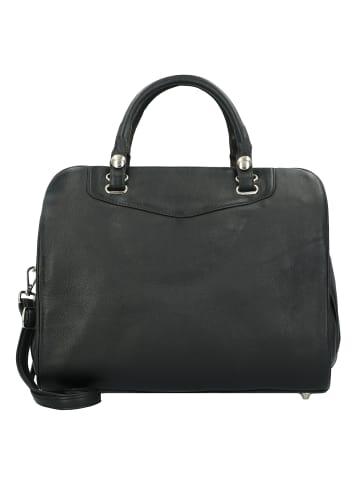 Alassio Gavi Business Handtasche Leder 35 cm in schwarz
