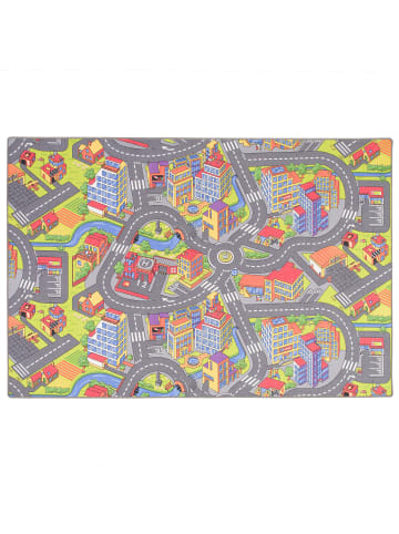 Snapstyle Kinder Spiel Teppich Straßenteppich 3D Big City in Bunt