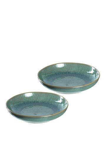 LEONARDO Keramikteller MATERA 2er-Set 20,7 cm grün