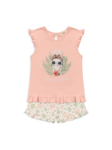 Panco Pyjama - mit Häschendruck - für Mädchen in Rosa