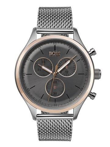 Hugo Boss Chronograph Uhr 'Companion' In Grau/Silber