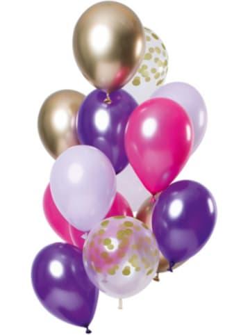 FOLAT Luftballons Purple Posh 30 cm, 12 Stück