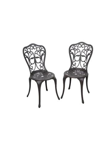 Möbel-direkt 2tlg. Stuhlset Versailles in braun