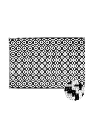 Butlers In- & Outdoorteppich Mosaik L 180 x B 120cm COLOUR CLASH in Schwarz