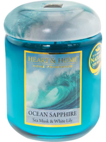 "HEART & HOME Kleine Duftkerze ""Ocean Sapphire"", 115 g"
