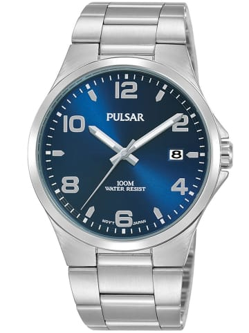 Pulsar Herren-Armbanduhr Blau / Silber