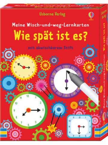 Usborne Meine Wisch-und-weg-Lernkarten: Wie spät ist es?