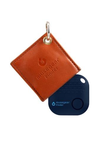 """Musegear Bluetooth-Schlüsselfinder """"Finder 2"""" in brauner Ledertasche"""