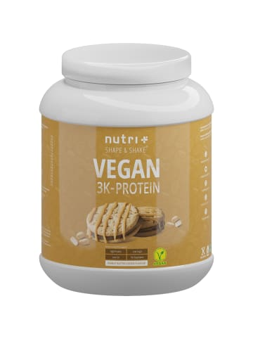 Nutri+ Pulver Vegan 3K Proteinpulver (1000g) in Erdnussbutter-Cookie