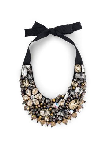 Pippa & Jean Halskette verziert mit Kristallen von Swarovski® in Schwarz in champagner