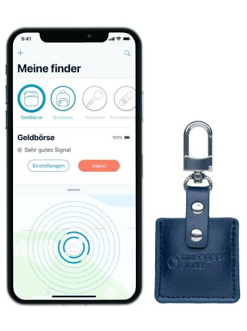 """Musegear Bluetooth-Schlüsselfinder """"Finder 2"""" in marineblauer Ledertasche"""