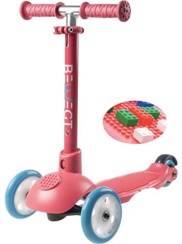BEWEGT 3-Rollen Scooter Kleinkinder in pink