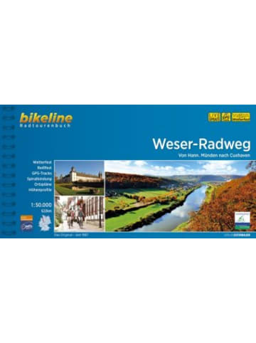 Esterbauer Bikeline Radtourenbuch Weser-Radweg