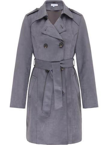 Usha BLUE LABEL Mantel in Grau Blau