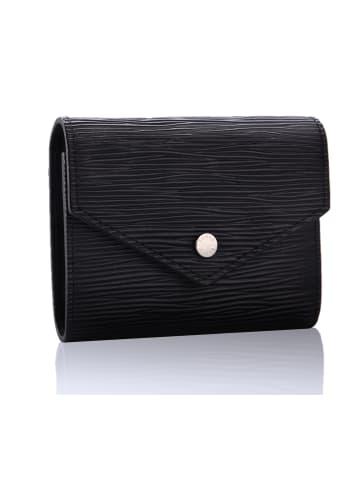 FEDER Leder Geldbörse für Damen + Geschenkbox in Black