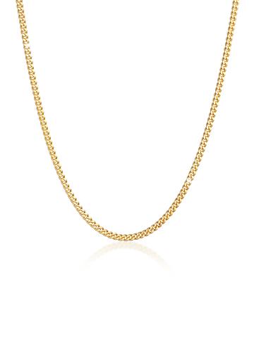 KUZZOI Halskette 925 Sterling Silber Basic Kette in Gold