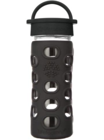 Lifefactory Glas-Trinkflasche, Classic Cap, onyx, 350ml