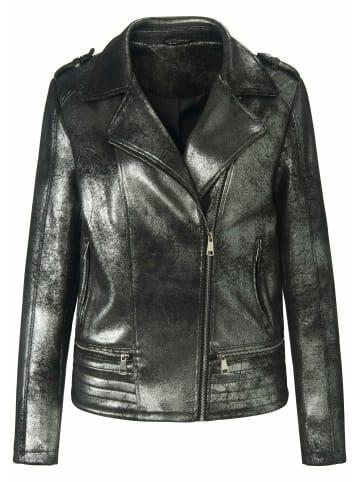 EMILIA LAY Outdoorjacke Biker-Jacke in schwarz/silber