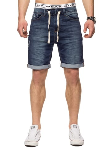 Sublevel Bermuda Sweat Jeans Shorts Stretch Pants in Dunkelblau-Variante 3