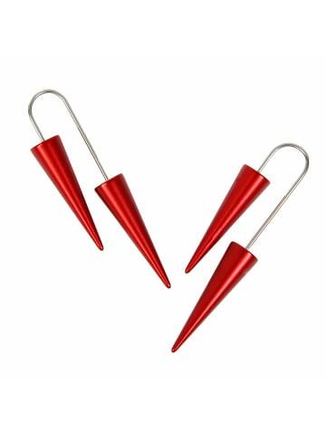 DeMarie Ohrhänger Metall in rot