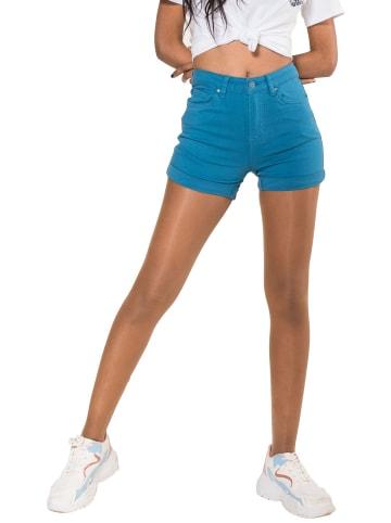 Simply Chic Jeans Shorts Hot Pants Kurze Hose Chino Bermuda in Blau