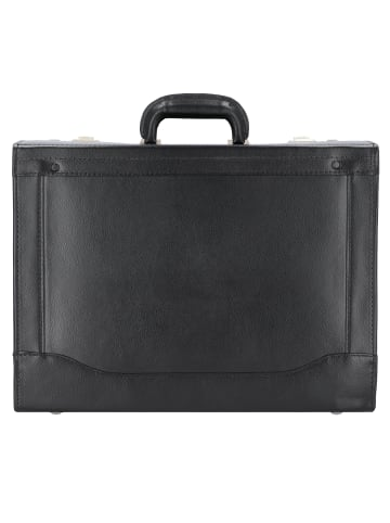 Alassio Pilotenkoffer Leder 45 cm Laptopfach in schwarz